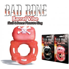 Cockring vibrant rouge Bad Bone Barrel Vibe - 3 vitesses