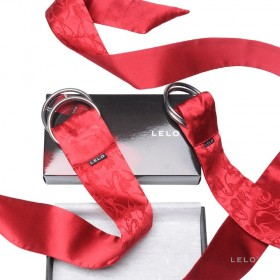 Entraves en soie Boa Pleasure Ties rouge