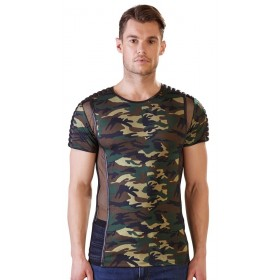Tee Shirt Camouflage et Tulle - XL